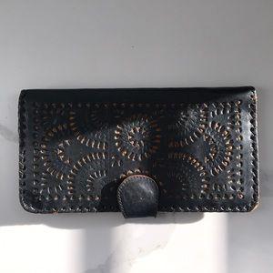 Cleobella Mexicana Black Leather Wallet
